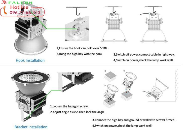 cấu tạo đèn led nhà xưởng công nghiệp