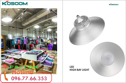 đèn nahf xưởng kosoom chiếu sáng công nghiệp